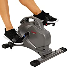 Sunny Health & Fitness SF-B0418 Magnetic Mini Exercise Bike with Digital Monitor and..