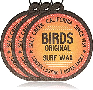 Birds Original Californian Surf Wax Coconut Car Air Freshener | Hanging Air Freshener | Auto Air Freshener or Home Air Freshener (3)