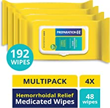 Preparation H Flushable Medicated Hemorrhoid Wipes, Maximum Strength Relief with Witch Hazel and Aloe, 48 Count, Pack of 4