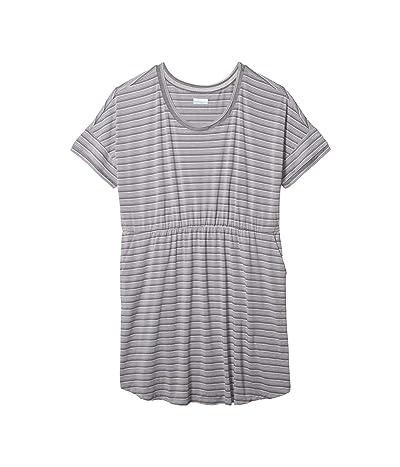 Columbia Plus Size Slack Watertm Knit Dress (City Grey Stripe) Women