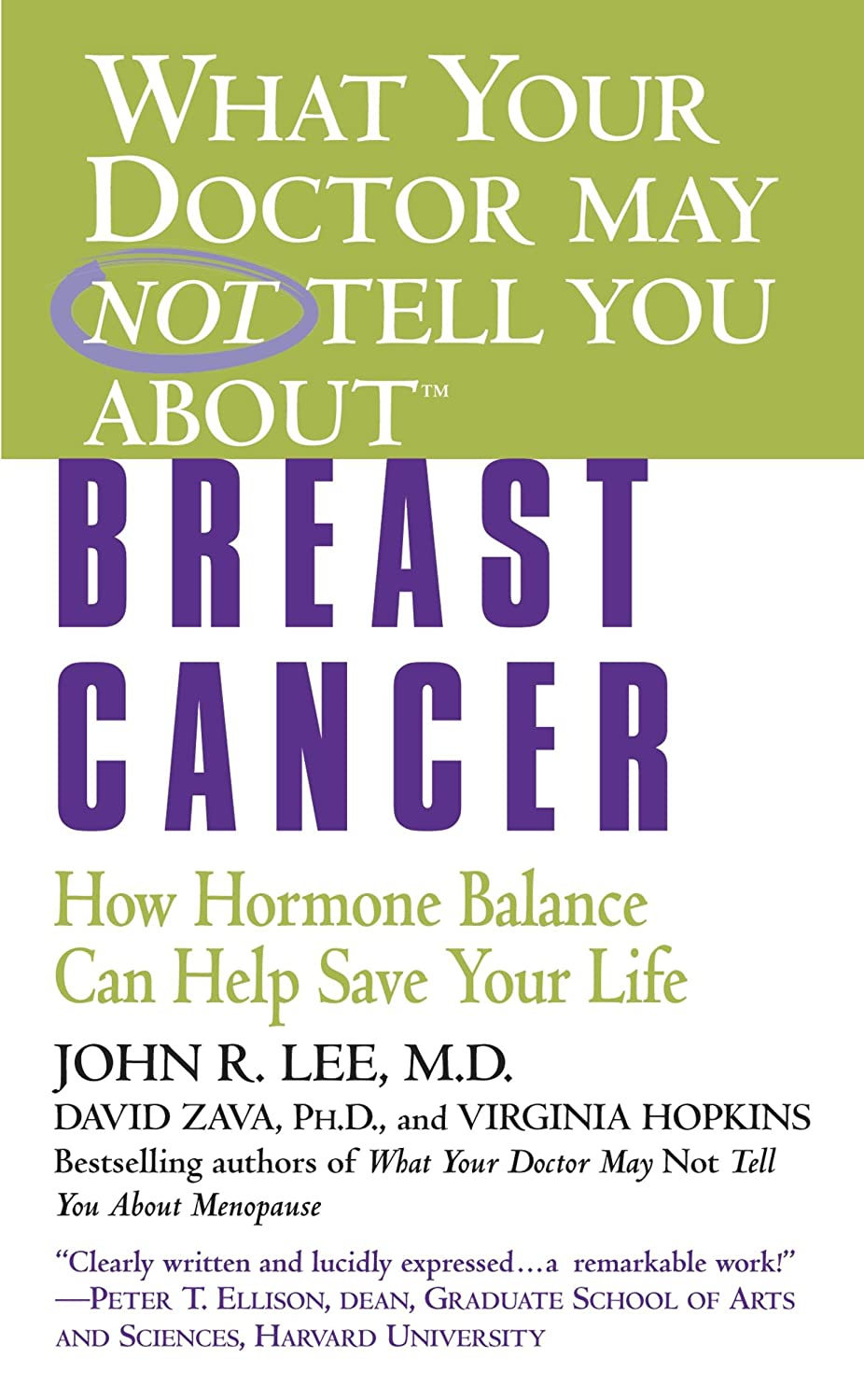 What Your Doctor May Not Tell You About(TM): Breast Cancer: How Hormone Balance Can Help Save Your Life (English Edition)