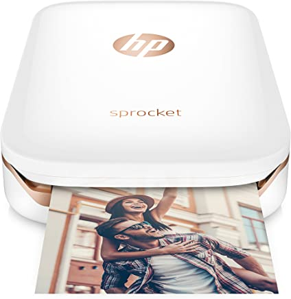HP Sprocket Portable Photo Printer, X7N07A, Print Social...