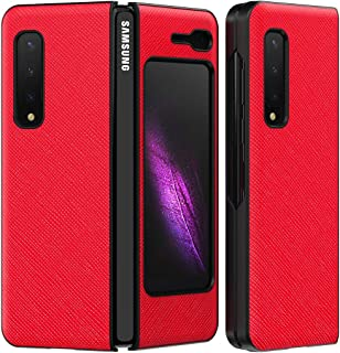 COQUE Galaxy Z Fold 1 5G case/cross fine leather pattern case,PC all-inclusive style,180˚ folding mobile phone case for Sa...