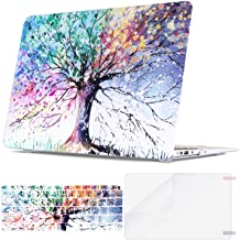 TeenGrow MacBook Air 13 inch Case 2018 Release A1932, Rubber Coated Plastic Hard Case Shell & Keyboard Cover & Screen Protector Only Compatible New Version Mac Air 13