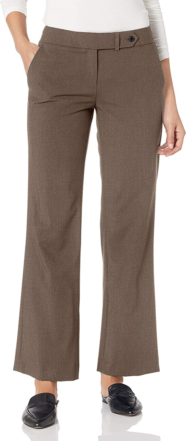 Calvin Klein Women's Petite Classic Fit Lux Pant at  Women's Clothing store
