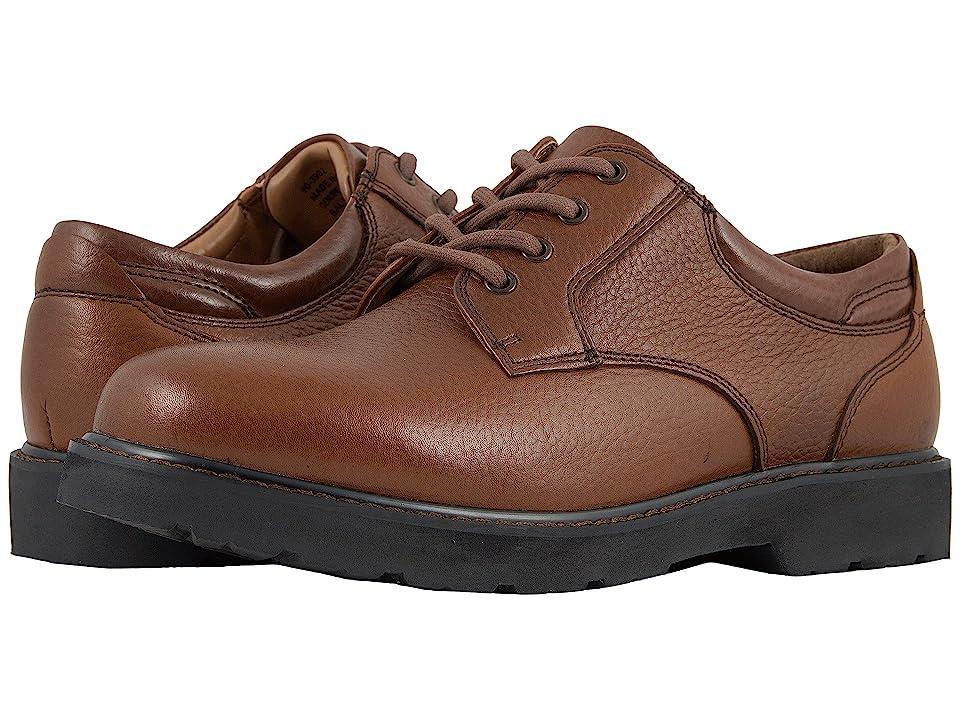Dockers Shelter Plain Toe (Dark Tan Full Grain Leather) Men