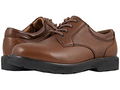 Dockers Shelter Plain Toe (Dark Tan Full Grain Leather) Men