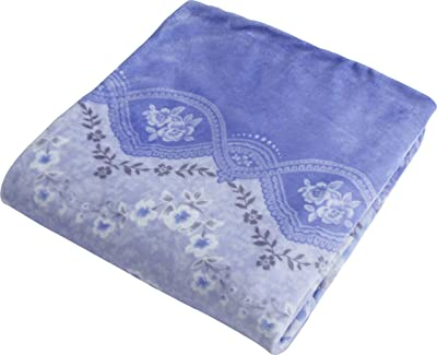 京都西川 掛けふとんカバー ブルー ダブルロング 洗える あったか 掛け布団カバー 毛布にもなる ズレにくい FN-FL-DL