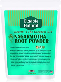 Oladole Natural, Nagarmotha Powder for Healthy Digestion, Hair Care and Growth, Natural Relief for Menstrual Cramps - 100g