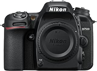 Nikon D7500 Body Only - 20.9 MP, 4K, SLR Camera, Black