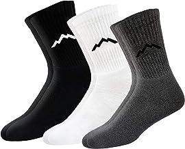 RANGER Sport Men's Heavy Duty Cotton Crew Athletic Socks, Pack of 3 (Multi-coloured)