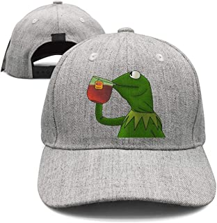SYWHPS Kermit The Frog Dad Hat Cap Sipping Sips Drinking Tea Champion Lebron Costume