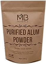 MB Herbals Alum Powder 250 Gram   Potassium Alum Powder   Purified Alum Powder Through Traditional Ayurveda Shodhan Purification Process   Helps in Canker Sores   Natural Deodorant