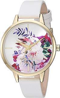 Nine West - Reloj de pulsera para mujer, color dorado y rosa