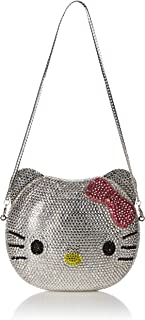 1a89b0f0bf 3-D Hello Kitty Cat Crystal Couture Clutch Special Occasion Holiday Party  Evening Bag Silver