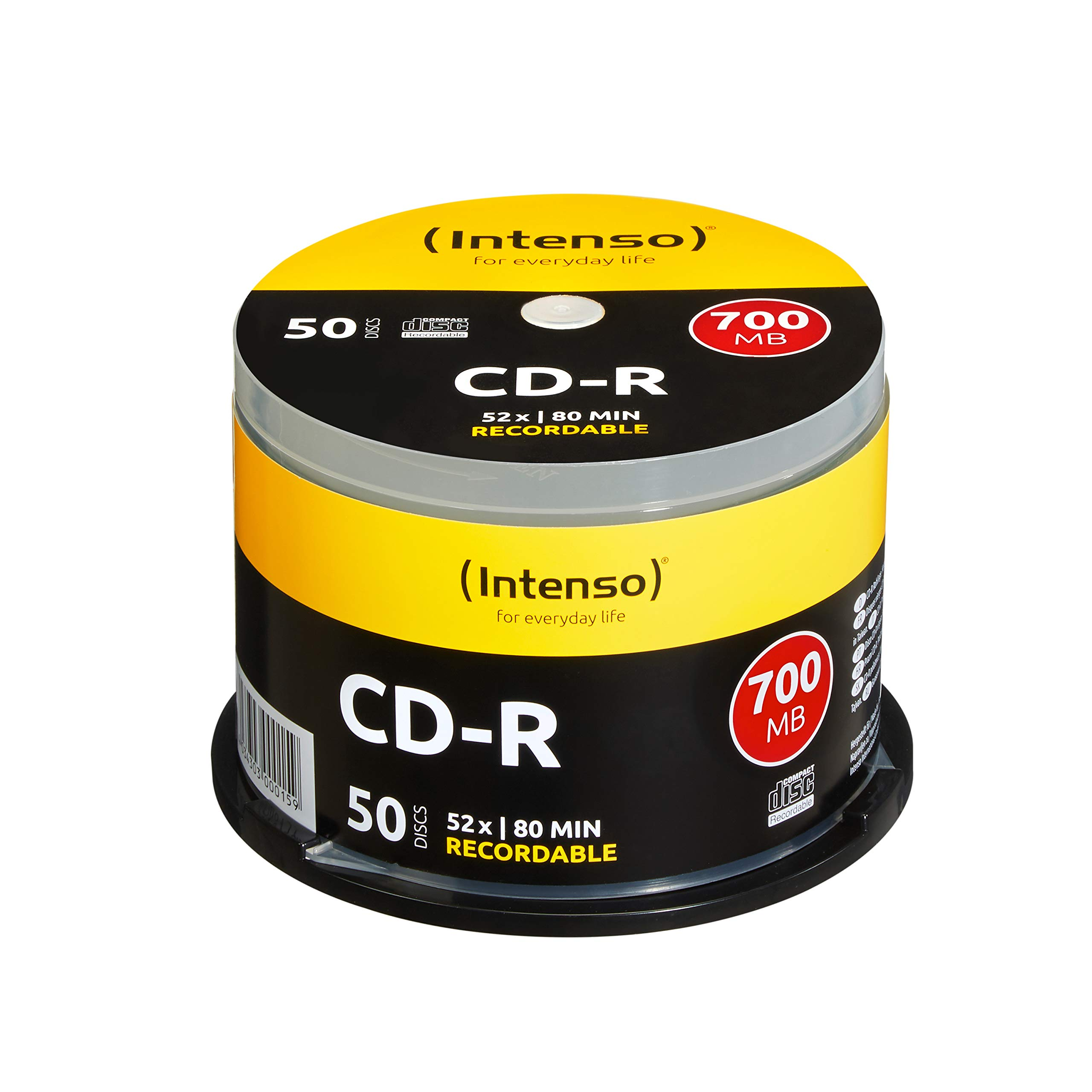 Intenso 1001125 - Pack de CD-R vírgenes (700 MB, 80 Minutos, 52x ...