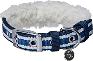 Sponsored Ad - Blueberry Pet 2021 New 7 Patterns Ultra Soft & Comfy Sherpa Fleece Padded Dog Collars for Winter Cold Weath...