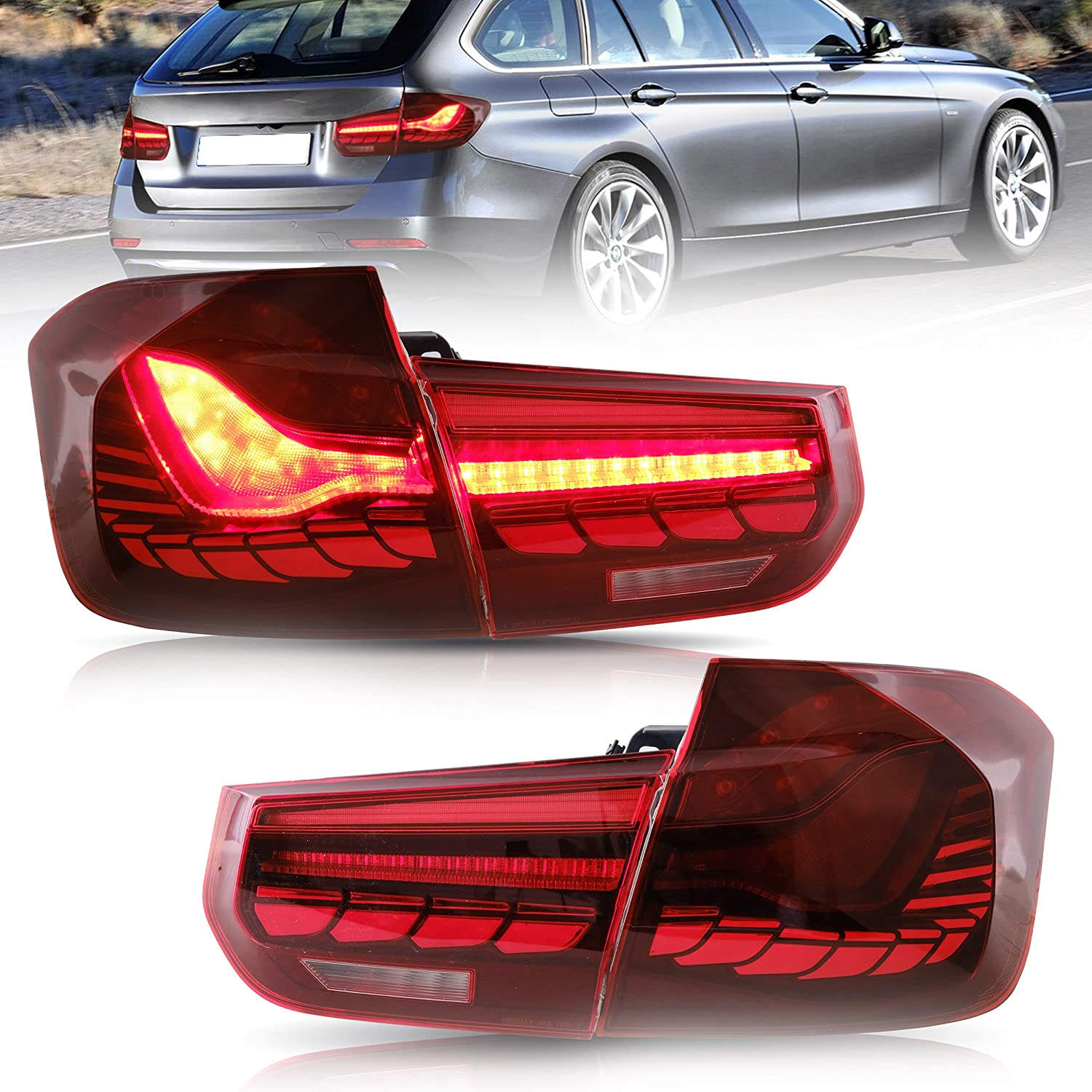 VLAND Tail lights Assembly Fit for 70%OFFアウトレット 3 F30 Series 送料無料 激安 お買い得 キ゛フト 12-15 BMW Plug-