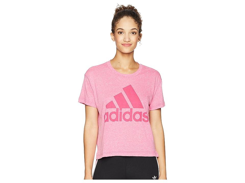 adidas Boxy Badge of Sport T-Shirt (Real Magenta) Women