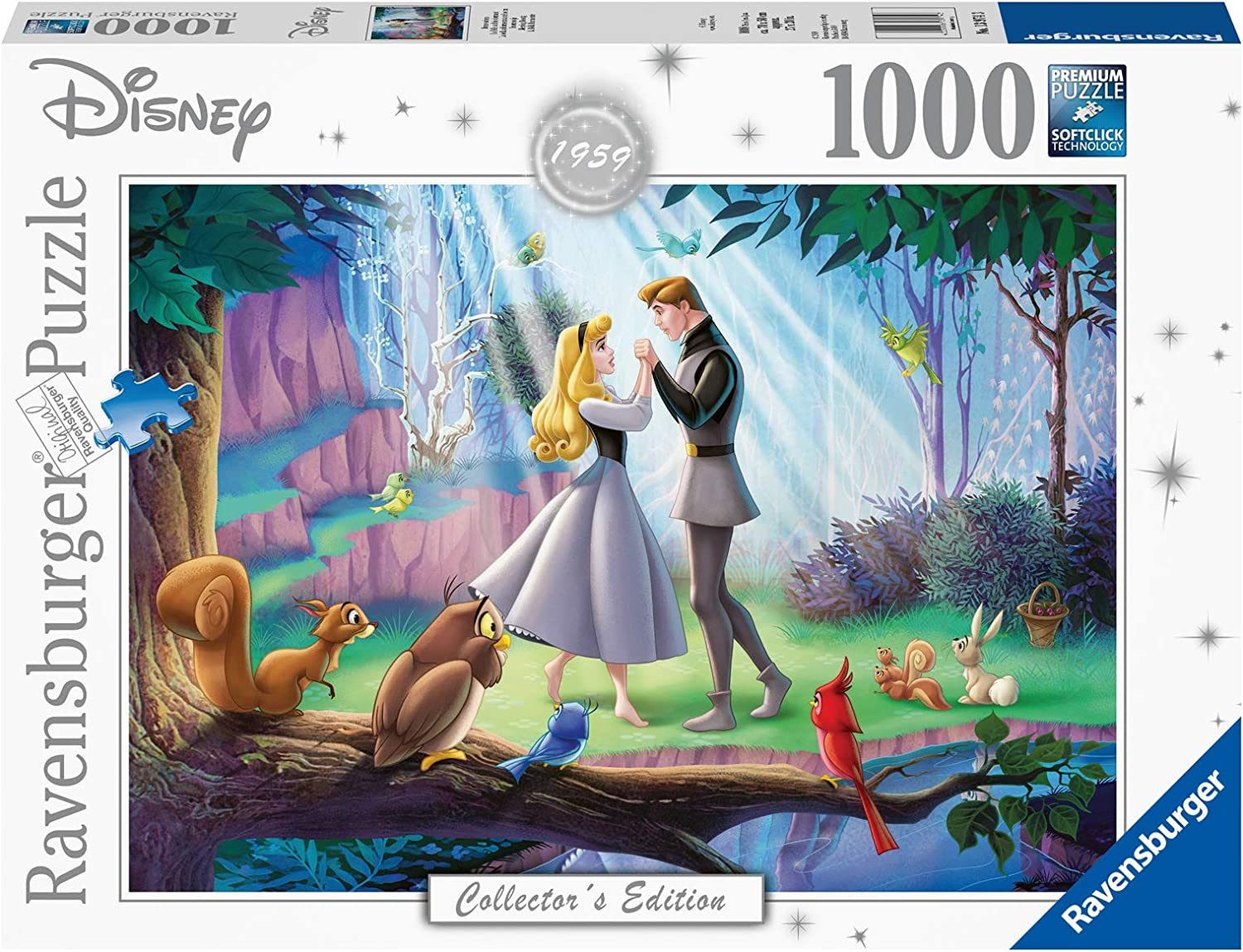 Ravensburger Disney Collector's Edition Sleeping Beauty 1000 Piece Jigsaw Puzzle for Adults - Every Piece is Unique, Softclick Technology Means Pieces Fit Together Perfectly