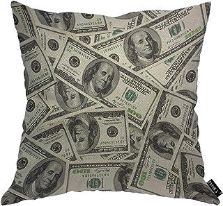 غطاء وسادة EKOBLA مائة دولارات للأموال النقدية التجارية بيل العملة التجارية الديكور وسادة القضية للمطبخ المنزل غرفة النوم ...