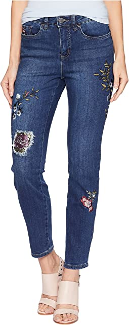 Floral Embroidered Olivia Slim Ankle