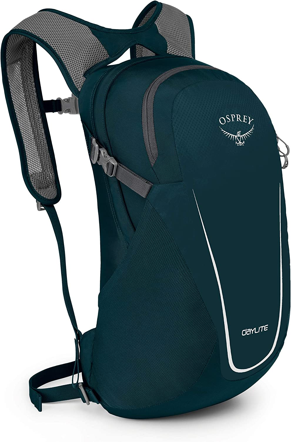 Image of the Osprey Daylite Backpack in blue-green color on a white background.