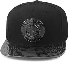 Mitchell & Ness Brooklyn Nets Snapback Hat Cap Black/Black Foil (Patent Leather)