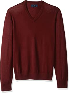 Buttoned Down Men's Italian Merino Cashwool V-Neck Sweater