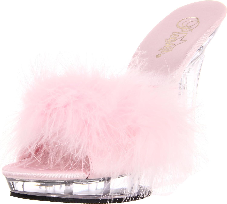 Fabulicious Lip-101-8 - sexy High Heels Mini-Plateau Mules Sandaletten 35-43, Gre EU-35 US-5 UK-2