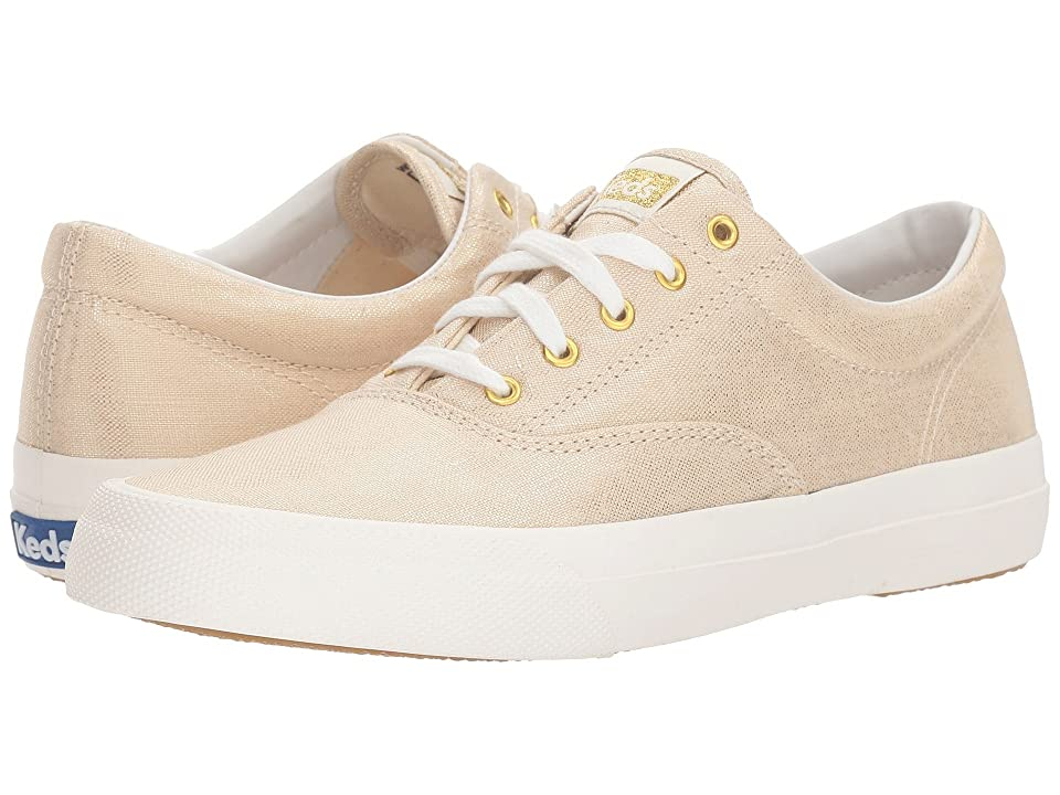 3eaf2eae30bcfb Keds Anchor Metallic Linen (Natural Gold) Women s Lace up casual Shoes