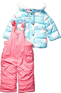 Baby Girls Heavyweight Jacket and Pants Snowsuit