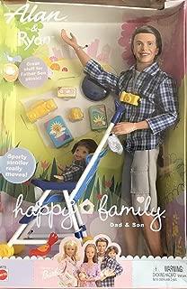 BARBIE Happy Family ALAN & RYAN DOLL Set w DAD & SON in STROLLER & More! (2002)