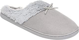 26 Accessories Women's Fur Lined Memory Foam Clog Slippers, Slip On House Shoes