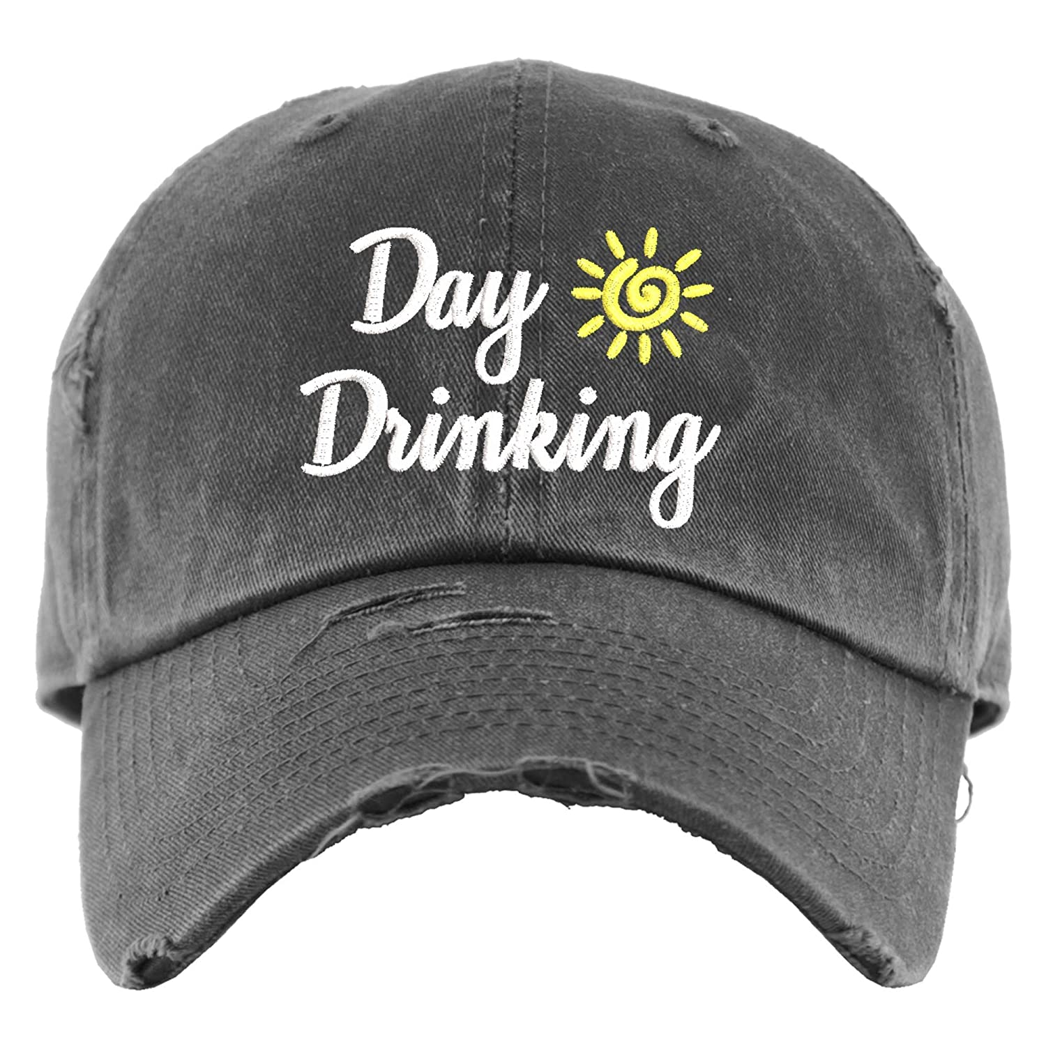 Day Drinking Hat Distressed Baseball Minneapolis Mall Fun Sale price Ponytail OR Cap