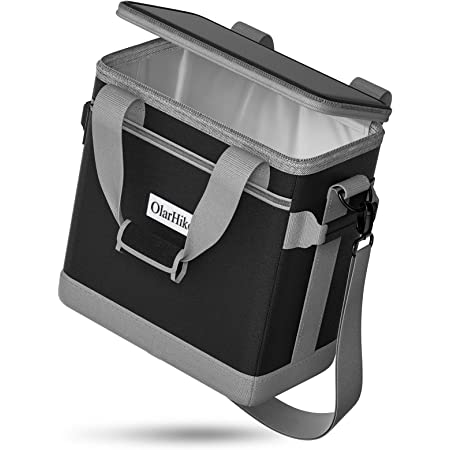 OlarHike Cooler Bag Lunch Bag, Collapsible and Insulated Lunch Box Leakproof Cooler Bag for Camping, Picnic, BBQ