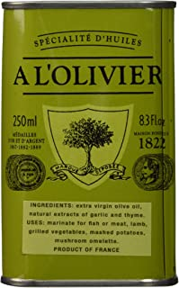 A L'Olivier Garlic & Thyme Infused Extra Virgin Olive Oil, 8.3 fl oz