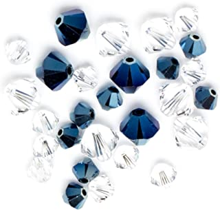 Swarovski - Create Your Style Bicone Mix Metallic Blue Crystal 3 packages of 28 Piece (84 Total Crystals)