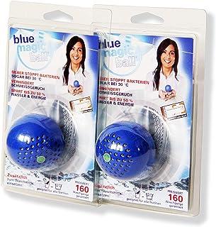 BlueMagicBall - Set van 2 wasballen stopt zweetgeur en bacteriën in de wasmachine en de wasmachine