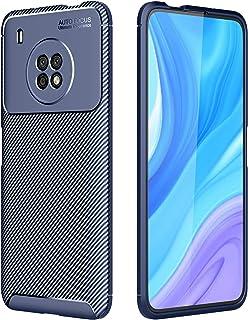 حافظة FanTing لهاتف Huawei Y9a ، مضادة للانزلاق رقيقة جدا امتصاص الصدمات المضادة للخدش واقية ، غطاء لهواوي Y9a - أزرق داكن
