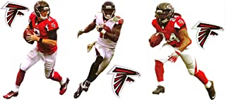 Matt Ryan + Julio Jones + Devonta Freeman + 3 Atlanta Falcons Logo Mini Fathead Official NFL Vinyl Graphics 7