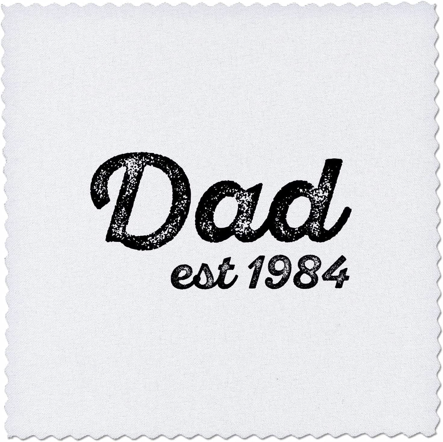 Max 72% OFF 3dRose Dad discount established 1984 distressed cursive on whit lettering