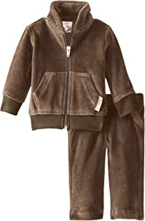 L'ovedbaby Unisex-Baby Newborn Organic Cotton Velour Track Suit