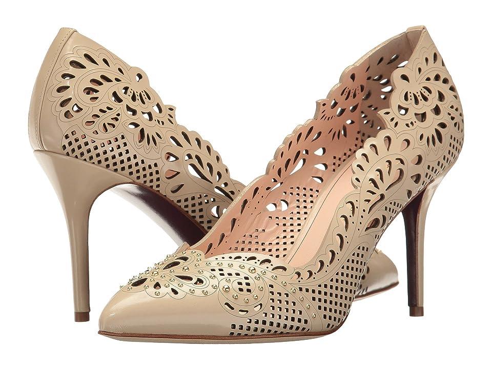 Oscar de la Renta Mazie 85mm (Beige Matte Patent Leather) Women