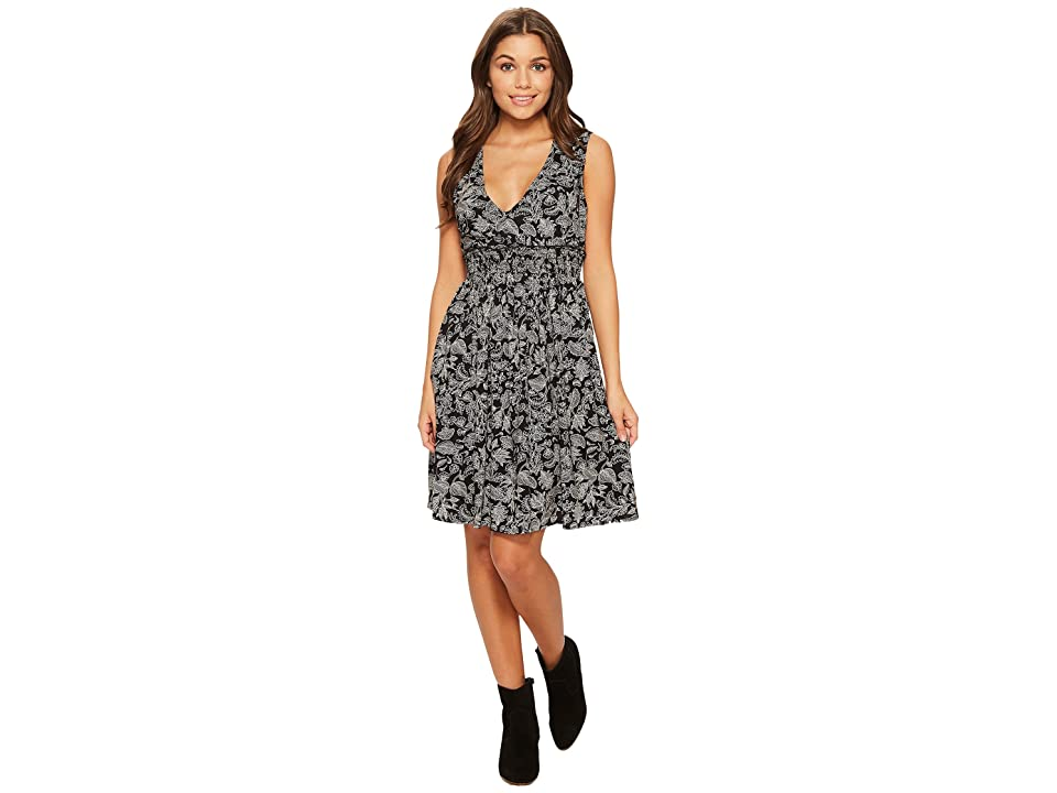 Roxy Angelic Grace Printed Woven Dress (Anthracite Dear Frida) Women