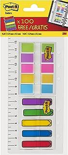 Post-it Ensemble marque-pages/règle avec 100marque-pages flèches et 80marque-pages Assortiment de couleurs