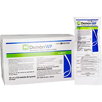 Demon WP Insecticide 1 Envelope Containing 4 Water-Soluble 9.5 Gram Packets Makes 4 Gallons Cypermethrin 40%