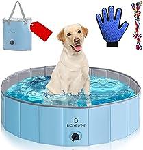 Dione Lane Dog Pool Plastic Foldable - Kiddie Pool for Dogs - Hard Plastic Pool for Kids - Foldable Pool - Pet Pool - Port...