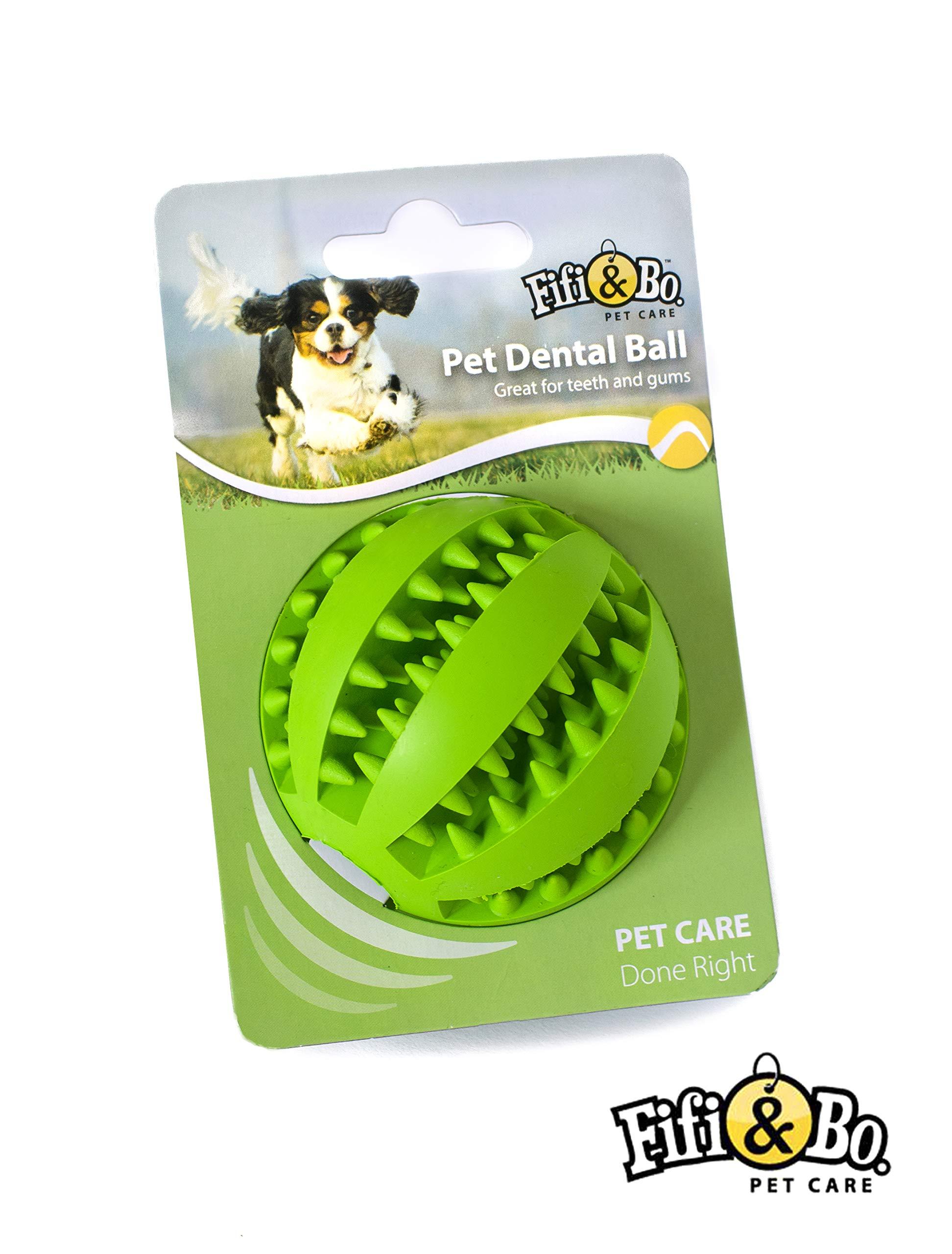 Fifi & Bo - Pelota de Goma para Masticar para Perro, alimentador ...
