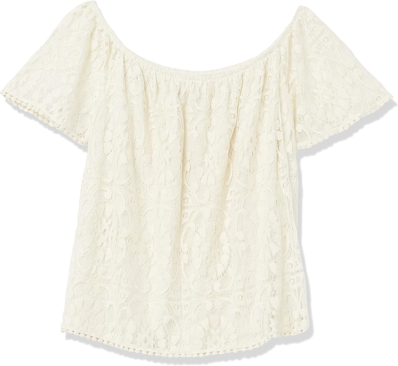 Jolt Womens Lace Knit Off The Shoulder Top